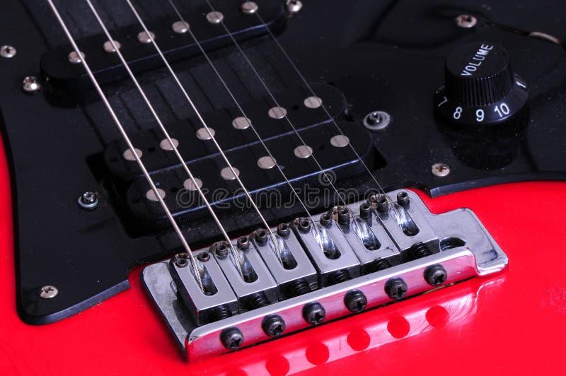 Macro de una guitarra eléctrica foto de archivo