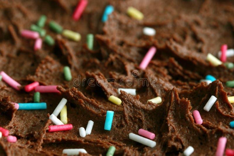 Macro de una torta de cumpleaños foto de archivo libre de regalías