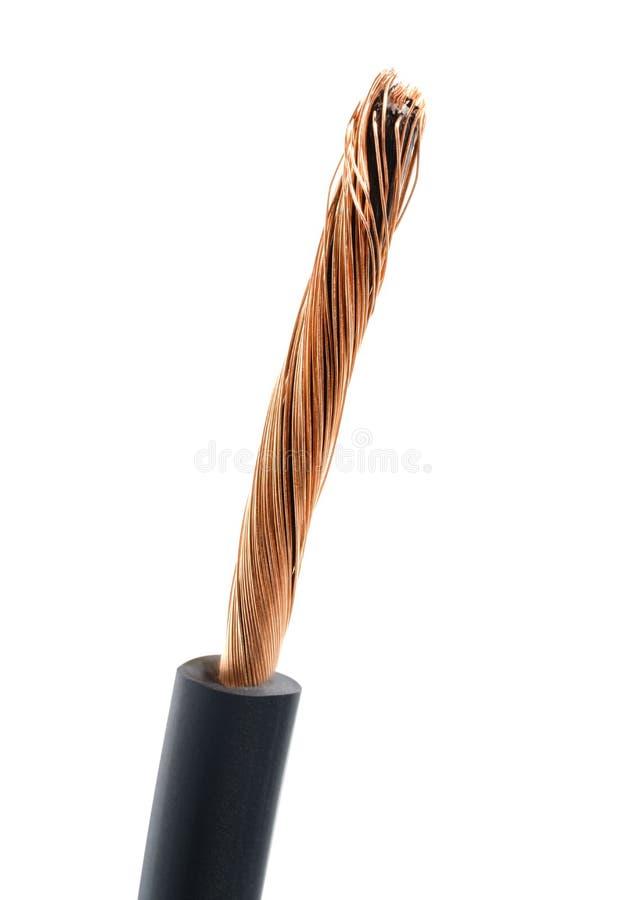 Macro del cable coaxial foto de archivo libre de regalías