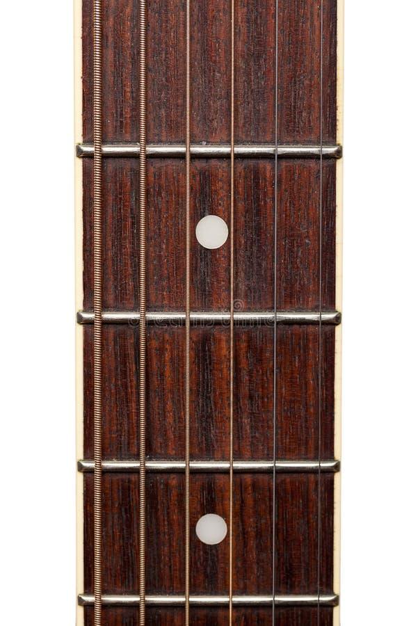 Macro del cerchio della chitarra immagine stock libera da diritti