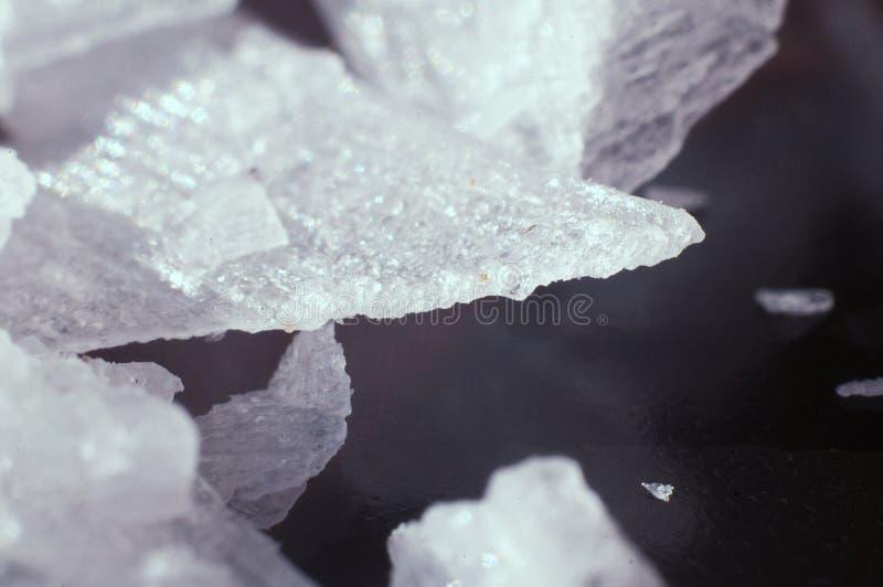 Macro del cristal de la sal fotos de archivo