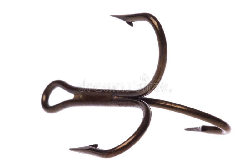 Macro del gancho de leva de pescados aislada fotografía de archivo libre de regalías