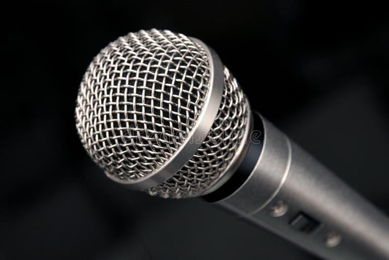 Macro del microfono immagine stock