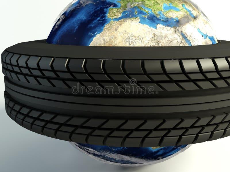 Macro del mundo del neumático ilustración del vector