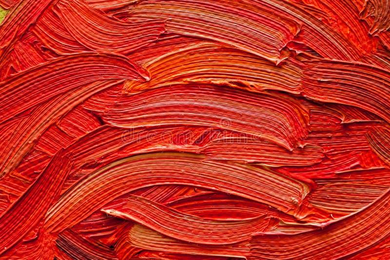 Macro del primer de la textura del detalle de la pintura al óleo foto de archivo libre de regalías