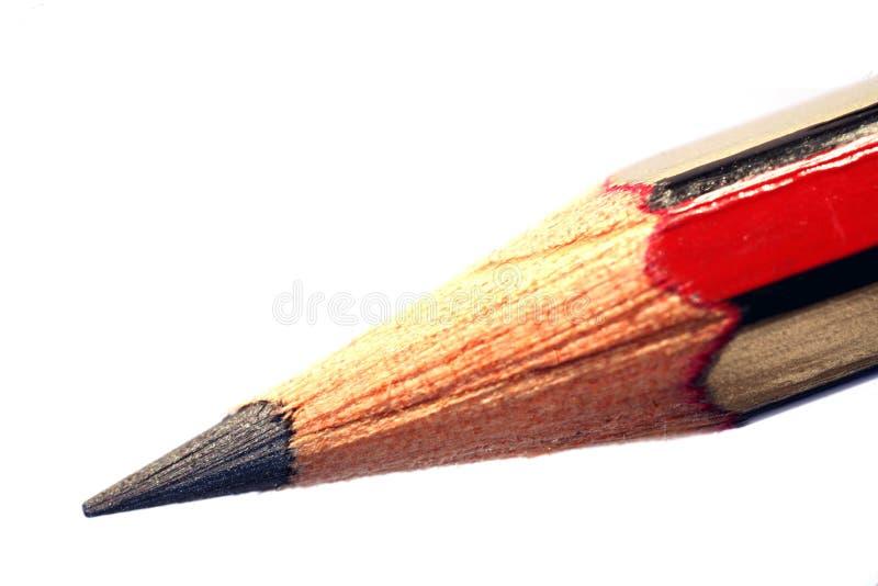 Macro del punto della matita fotografia stock