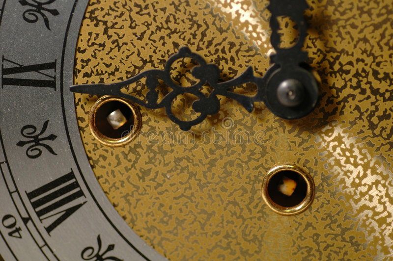 Macro del reloj fotos de archivo libres de regalías