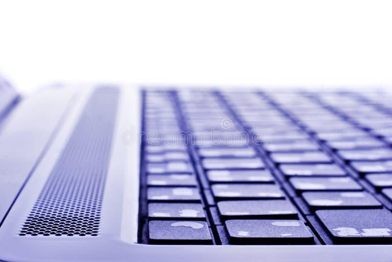 Macro del teclado de la computadora portátil imagen de archivo