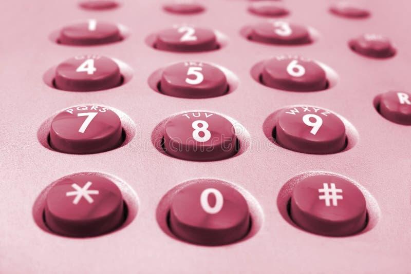Macro del telclado numérico del teléfono fotos de archivo