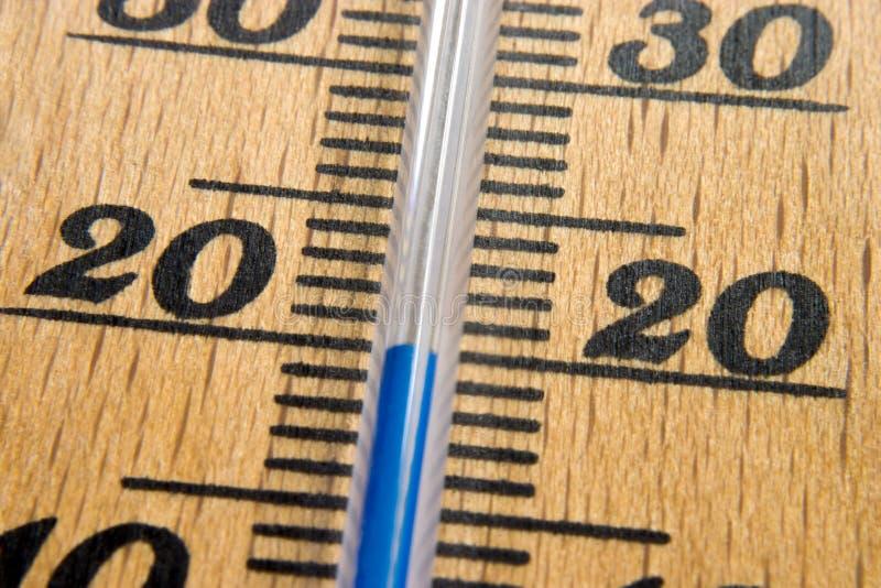 Macro del termometro fotografie stock libere da diritti