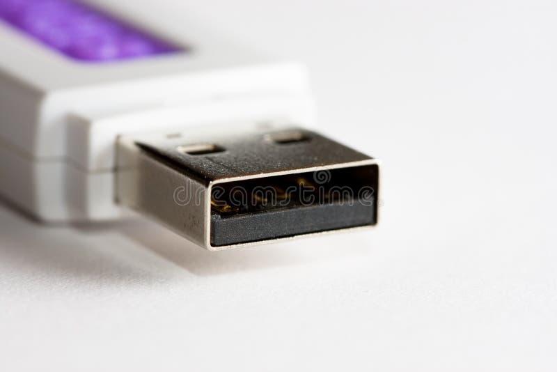 Macro dell'azionamento della penna di USB fotografia stock libera da diritti
