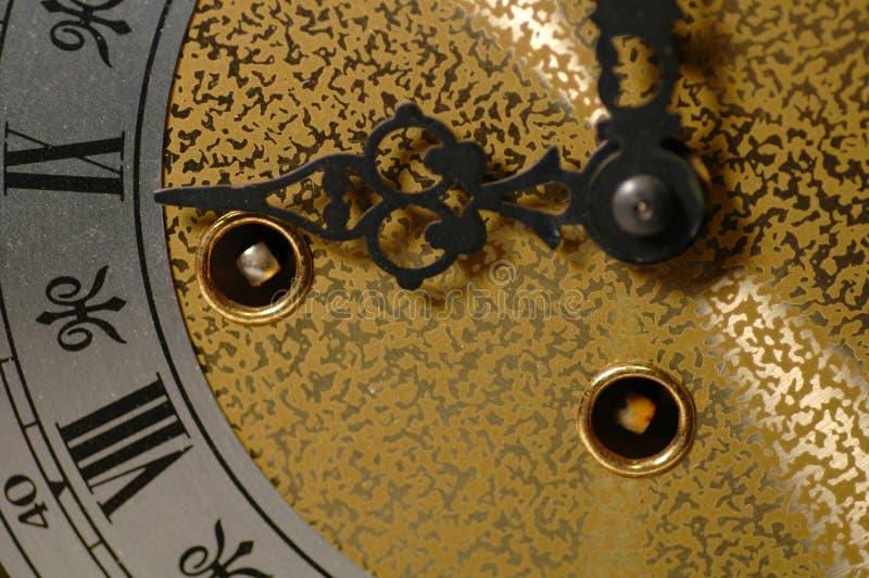 Macro dell'orologio fotografie stock libere da diritti