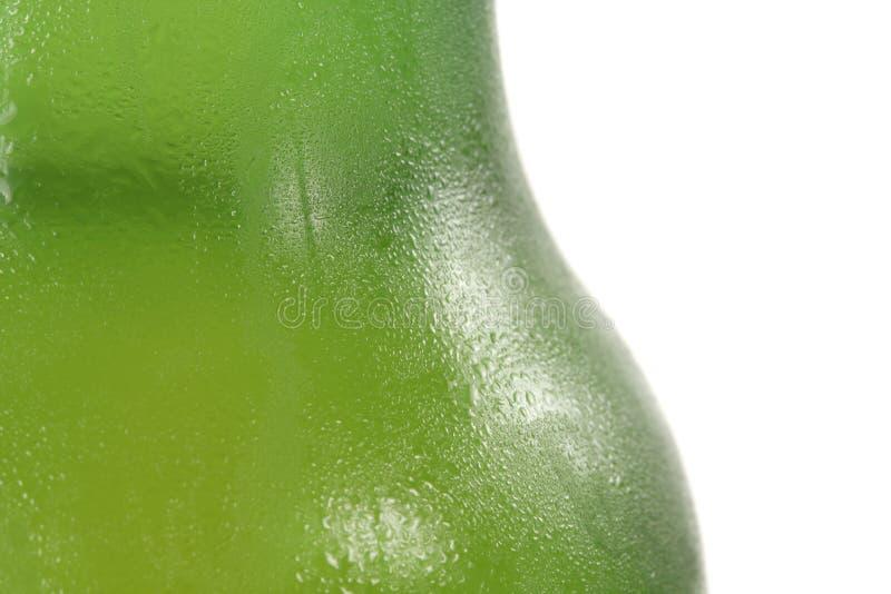 Macro della bottiglia da birra fotografia stock libera da diritti
