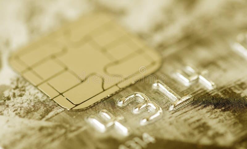 Macro della carta di credito fotografie stock libere da diritti