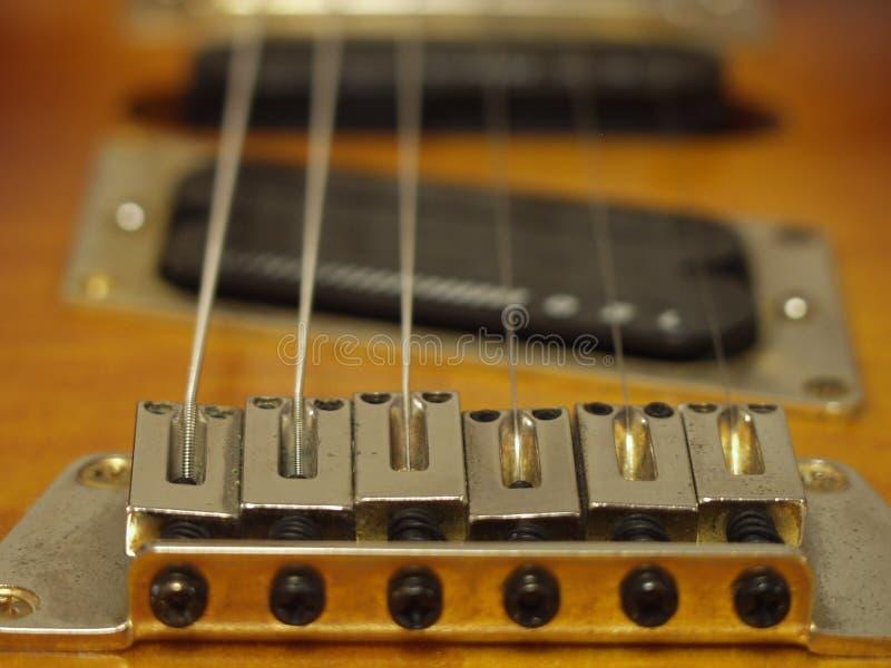 Macro della chitarra fotografie stock libere da diritti