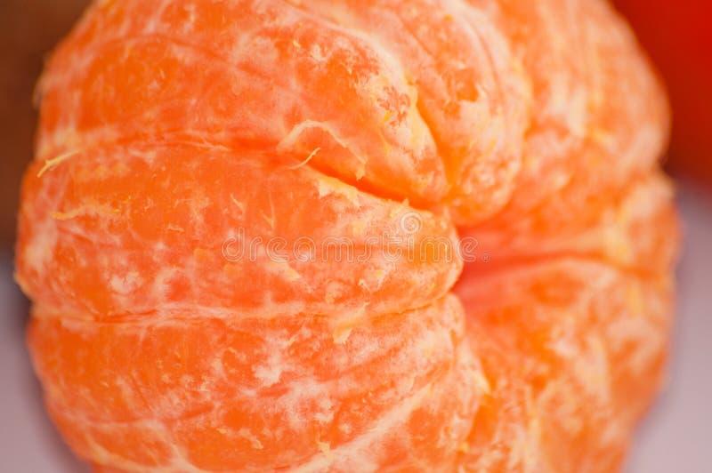 Macro descascado suculento delicioso do close-up do mandarino foto de stock royalty free