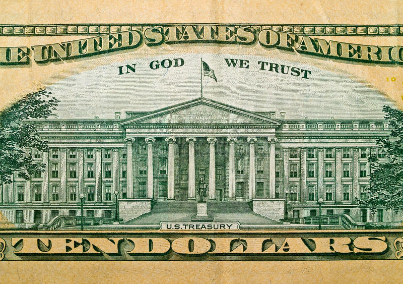 Download Macro Detail Of The US $10 Bill Stock Photo - Image: 11518330