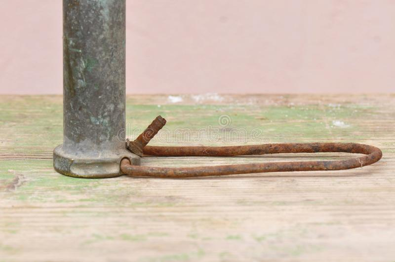 Old Bicycle Pump detail royalty free stock images