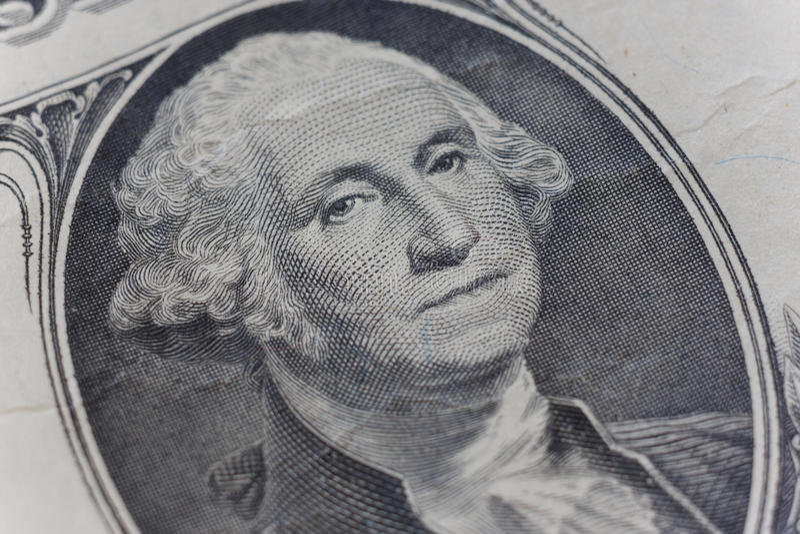Macro dettaglio della parte del dollaro immagini stock