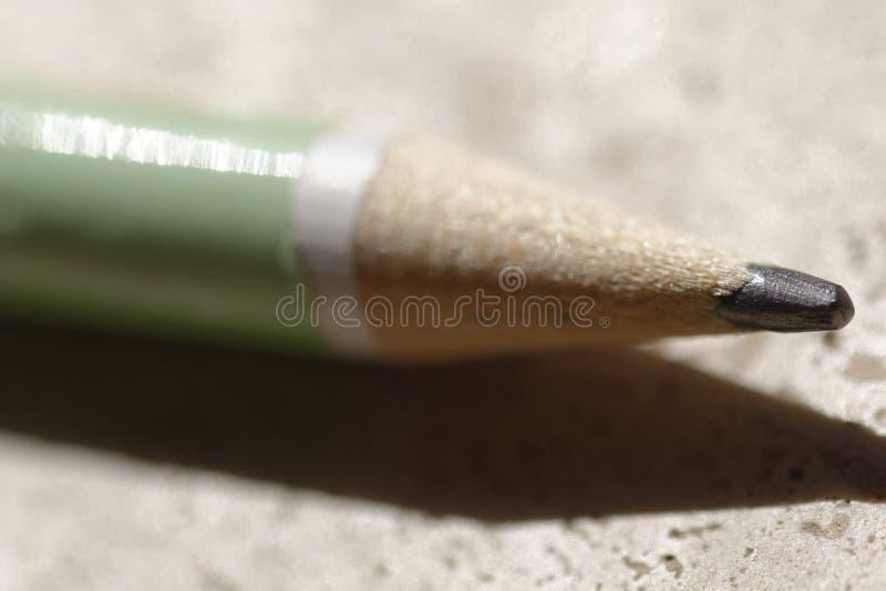 Macro dettaglio di una grafite della matita con un fondo neutrale fotografia stock
