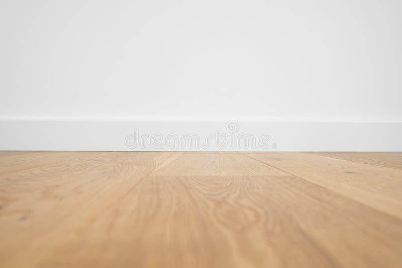 Macro di legno del pavimento - primo piano del pavimento di parquet fotografia stock
