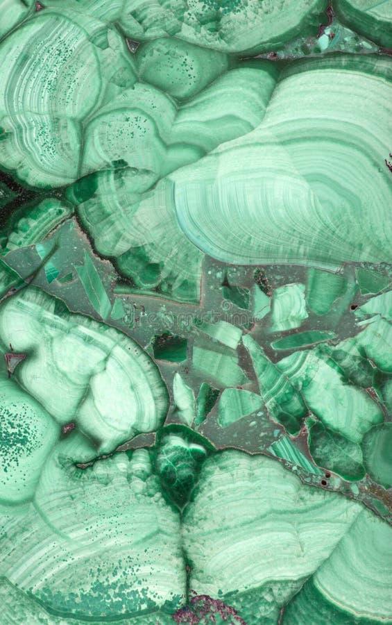 Macro di malachite scura e verde chiaro immagine stock libera da diritti