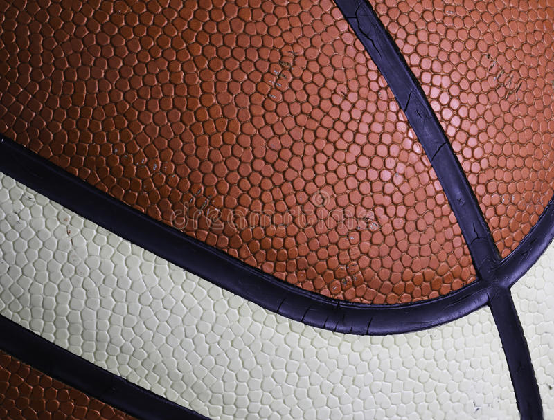 Macro di struttura di pallacanestro fotografia stock libera da diritti