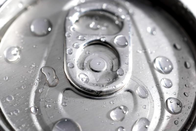Macro Di Una Latta Di Soda Fotografie Stock Gratis