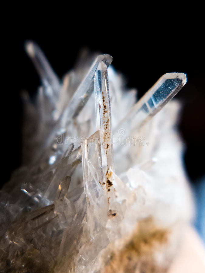 Macro diaphane de quartz photographie stock