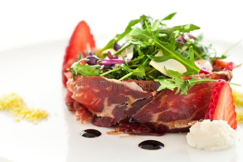 Macro dichte omhooggaand van groene salade. royalty-vrije stock afbeeldingen