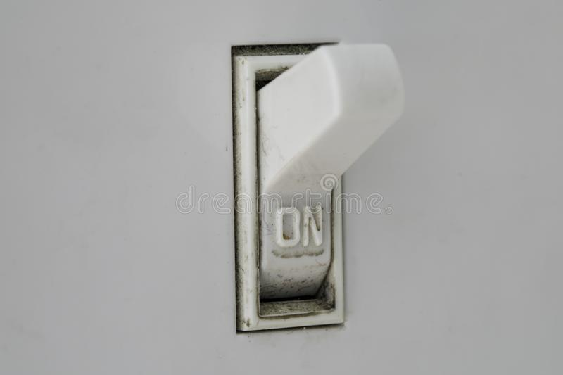 Macro Dirty On Light Switch stock image