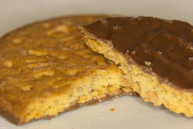 Macro do biscoito do chocolate foto de stock