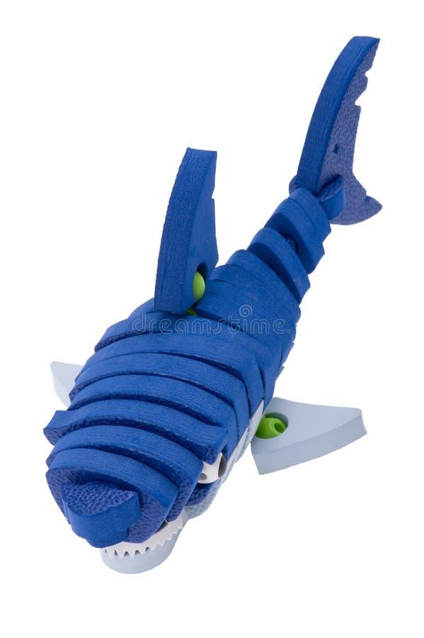 Macro do brinquedo do tubarão imagem de stock