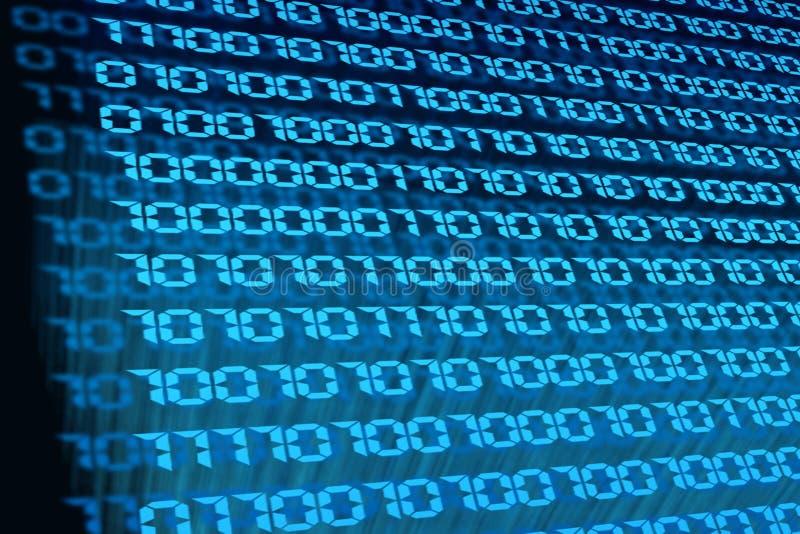 Macro do código binário ilustração do vetor