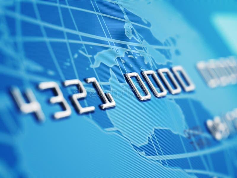 Macro do cartão de crédito imagem de stock