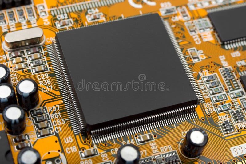 Macro do chip de computador fotos de stock royalty free