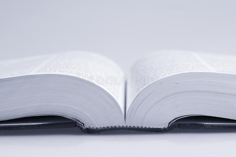 Macro do livro imagem de stock royalty free