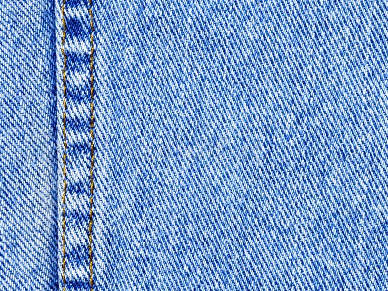 Macro do material das calças de brim da sarja de Nimes (horizontal) fotografia de stock