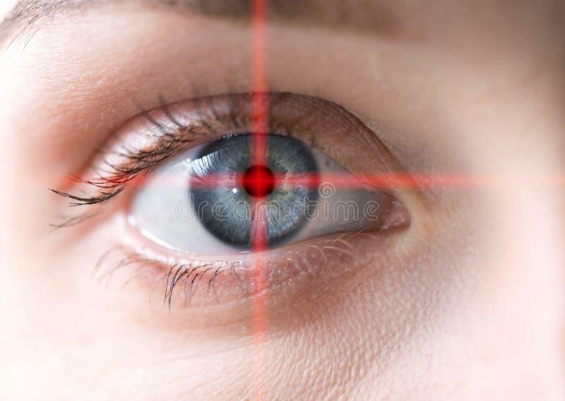 Macro do olho humano fotografia de stock