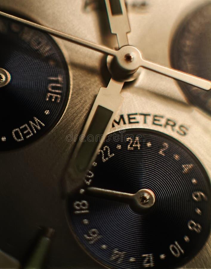 Macro do relógio de pulso fotos de stock