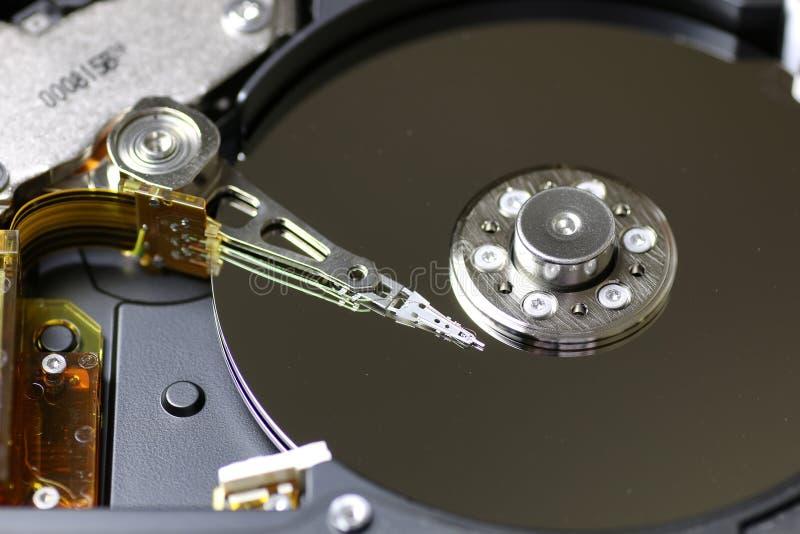 Macro do reparo da movimentação de disco duro foto de stock