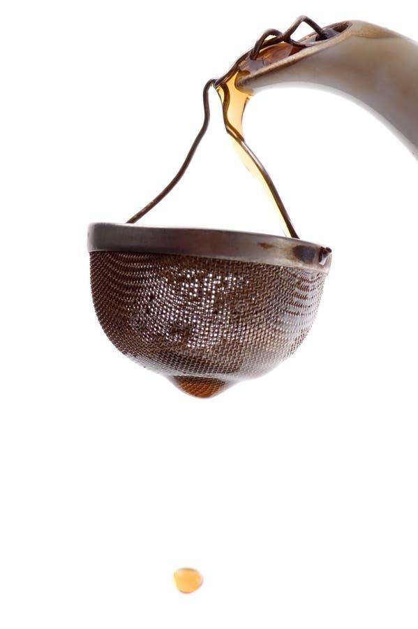 Macro do Tea-strainer imagens de stock royalty free