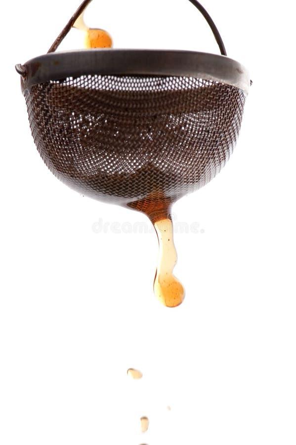 Macro do Tea-strainer foto de stock