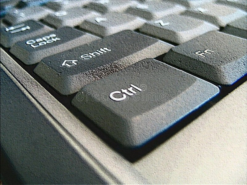 Macro do teclado imagem de stock royalty free
