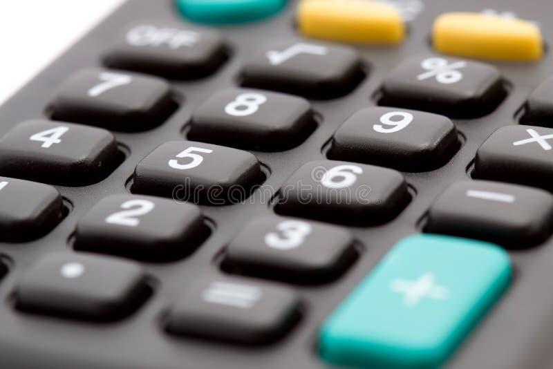 Macro do teclado da calculadora fotografia de stock royalty free