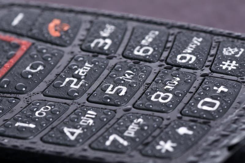 Macro do teclado do telefone imagem de stock