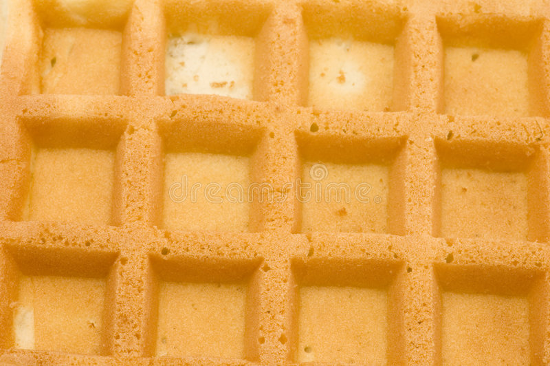 Macro do Waffle imagem de stock royalty free