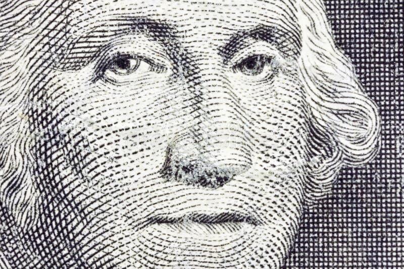 Macro Dollar US Bill de George Washington photo libre de droits
