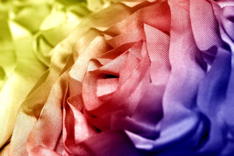 Macro dos tecidos de algodão foto de stock