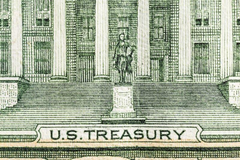 Macro Edificio Tesoro Usa fotografia stock libera da diritti